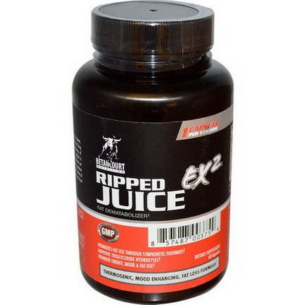 Betancourt, Ripped Juice EX2, Fat Dematabolizer, 60 Capsules