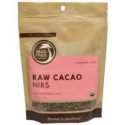 Big Tree Farms, Raw Cacao Nibs 227g