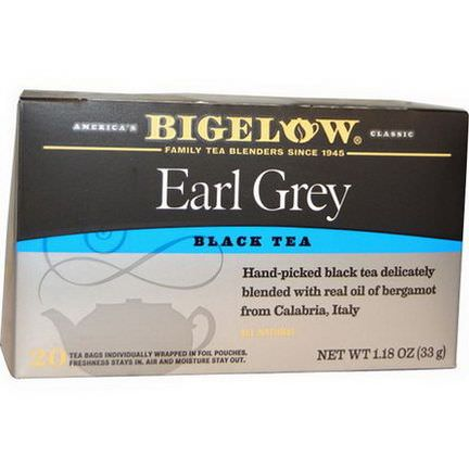 Bigelow, Earl Grey, Black Tea Blend, 20 Tea Bags 33g