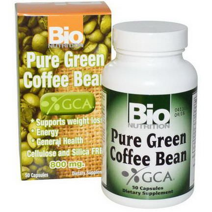 Bio Nutrition, Pure Green Coffee Bean, 800mg, 50 Capsules