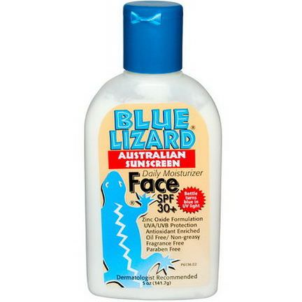 Blue Lizard Australian Sunscreen, Face SPF 30+, Fragrance Free 141.7g