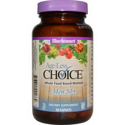 Bluebonnet Nutrition, Age-Less Choice, Whole Food Based Multiple, Men 50+, 90 Caplets