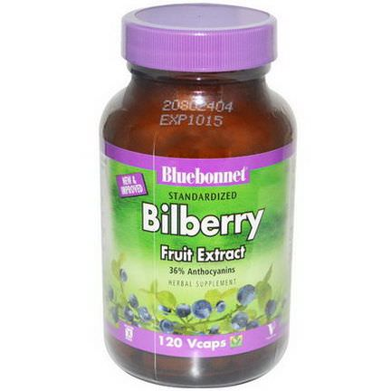 Bluebonnet Nutrition, Bilberry Fruit Extract, 120 Vcaps