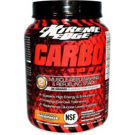 Bluebonnet Nutrition, Extreme Edge, Carbo Load, Muscle Replenish&Refuel, Tenacious Orange 1144g