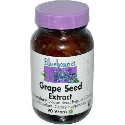 Bluebonnet Nutrition, Grape Seed Extract, 100mg, 90 Vcaps