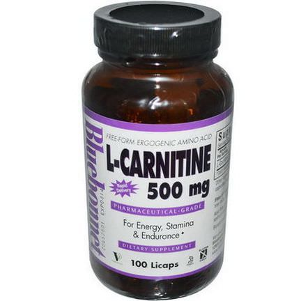 Bluebonnet Nutrition, L-Carnitine, 500mg, 100 Licaps