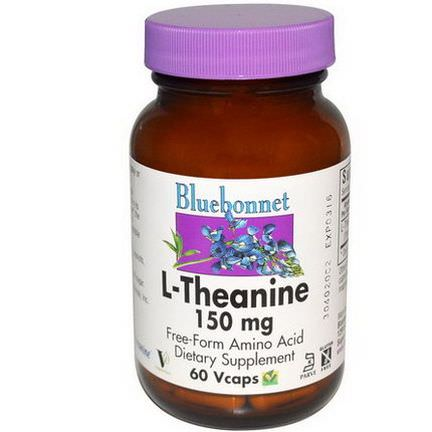 Bluebonnet Nutrition, L-Theanine, 150mg, 60 Vcaps