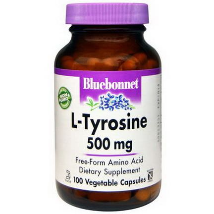 Bluebonnet Nutrition, L-Tyrosine, 500mg, 100 Veggie Caps