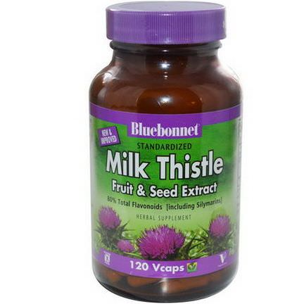 Bluebonnet Nutrition, Milk Thistle Fruit&Seed Extract, 120 Vcaps