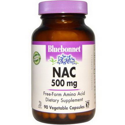 Bluebonnet Nutrition, NAC, 500mg, 90 Vcaps