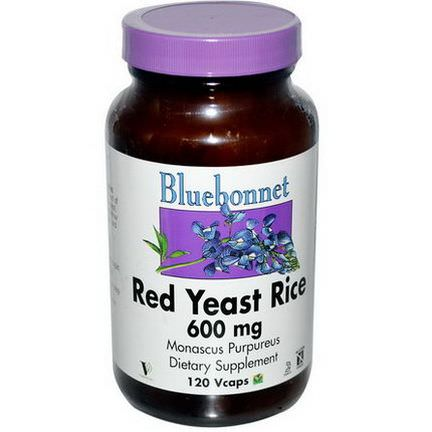 Bluebonnet Nutrition, Red Yeast Rice, 600mg, 120 Vcaps