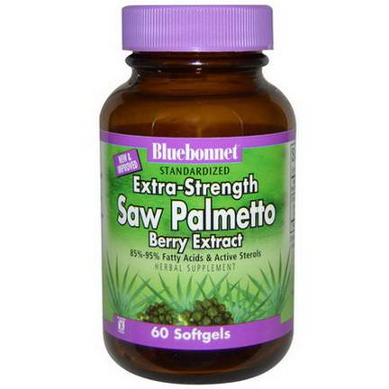 Bluebonnet Nutrition, Standardized Extra-Strength Saw Palmetto, Berry Extract, 60 Softgels