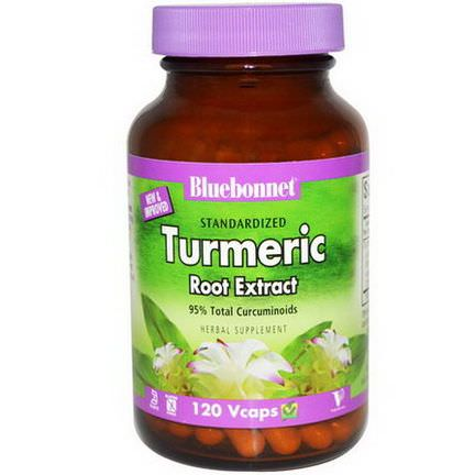 Bluebonnet Nutrition, Standardized Turmeric Root Extract, 120 Vcaps