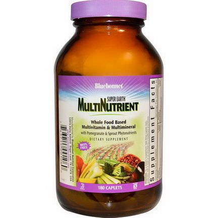 Bluebonnet Nutrition, Super Earth Multinutrient, Iron Free, 180 Caplets
