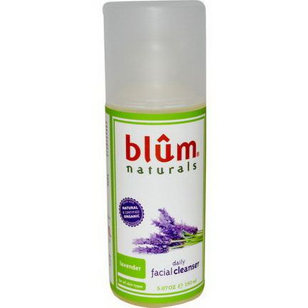Blum Naturals, Daily Facial Cleanser, Lavender 150ml