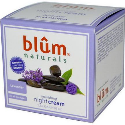 Blum Naturals, Nourishing Night Cream, Lavender 50ml