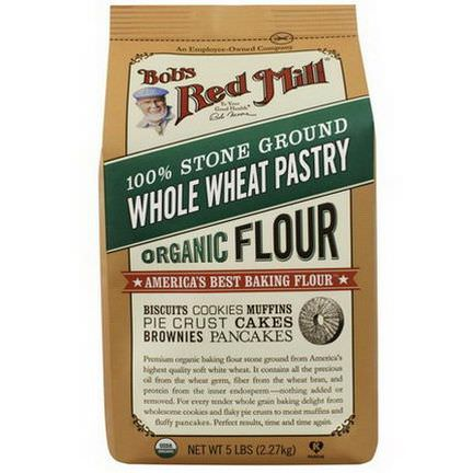 Bob's Red Mill, 100% Stone Ground Whole Wheat Pastry Flour 2.27 kg