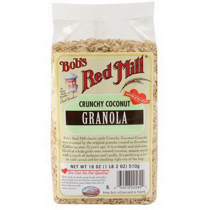 Bob's Red Mill, Crunchy Coconut Granola 510g
