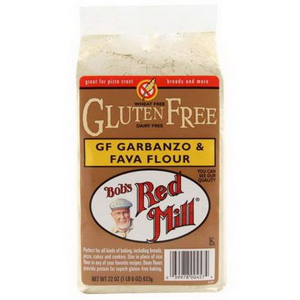 Bob's Red Mill, Garbanzo&Fava Flour, Gluten Free 623g