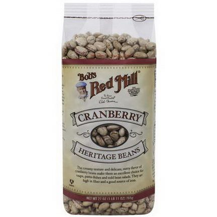 Bob's Red Mill, Heritage Beans, Cranberry 765g
