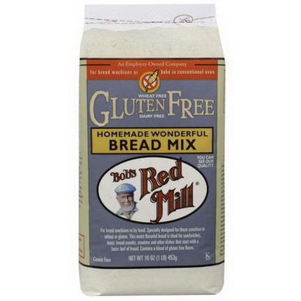 Bob's Red Mill, Homemade Wonderful Bread Mix, Gluten Free 453g