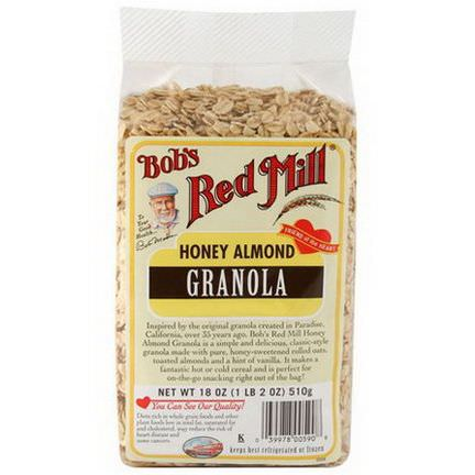Bob's Red Mill, Honey Almond Granola 510g