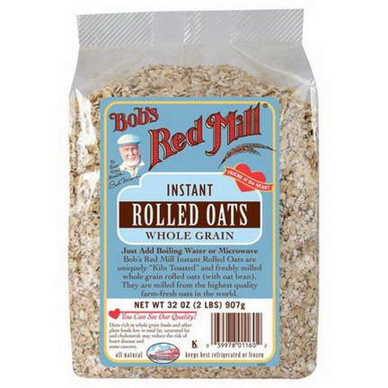 Bob's Red Mill, Instant Rolled Oats, Whole Grain 907g