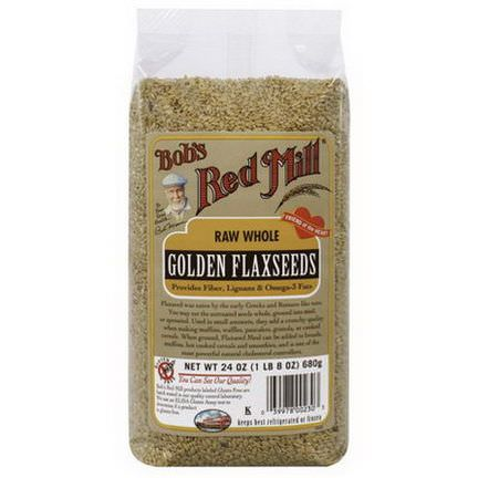 Bob's Red Mill, Natural Raw Whole Golden Flaxseeds 680g