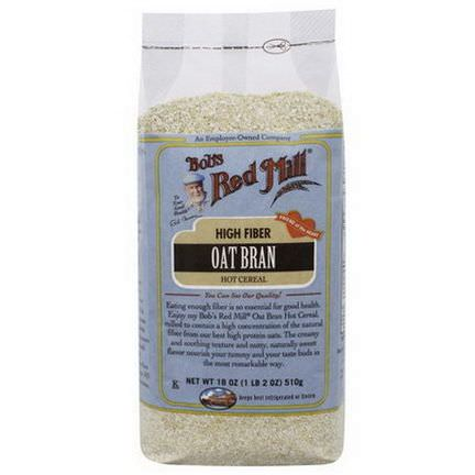 Bob's Red Mill, Oat Bran, Hot Cereal 510g