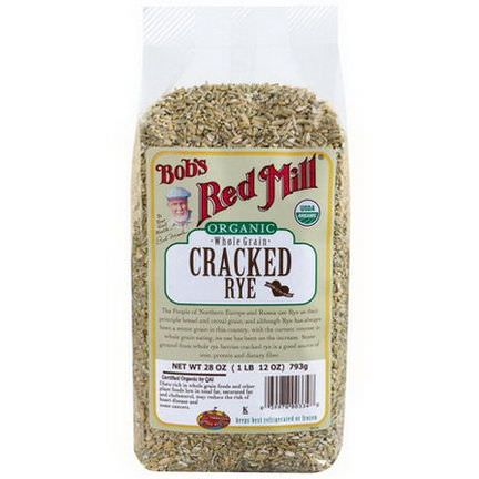 Bob's Red Mill, Organic, Cracked Rye, Whole Grain 793g