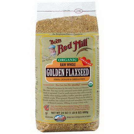 Bob's Red Mill, Organic, Golden Flaxseed 680g