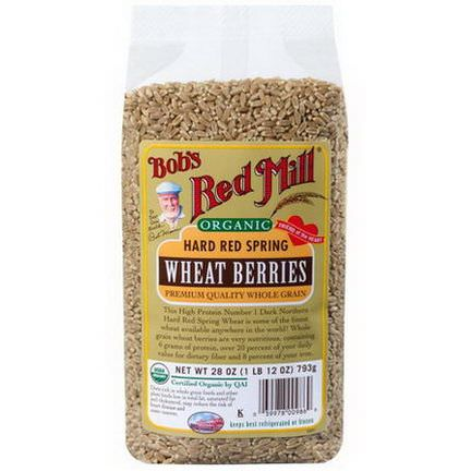 Bob's Red Mill, Organic Hard Red Spring Wheat Berries 793g