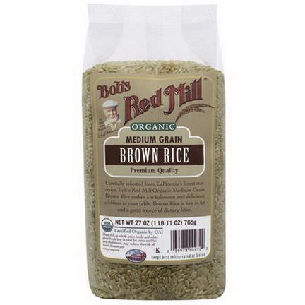 Bob's Red Mill, Organic, Medium Grain Brown Rice 765g