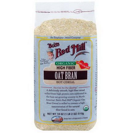Bob's Red Mill, Organic, Oat Bran Hot Cereal 510g
