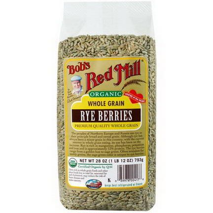 Bob's Red Mill, Organic, Rye Berries 793g