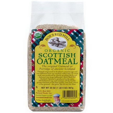 Bob's Red Mill, Organic Scottish Oatmeal 567g