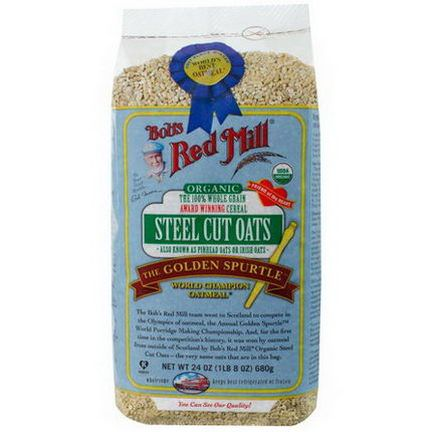 Bob's Red Mill, Organic Steel Cut Oats 680g