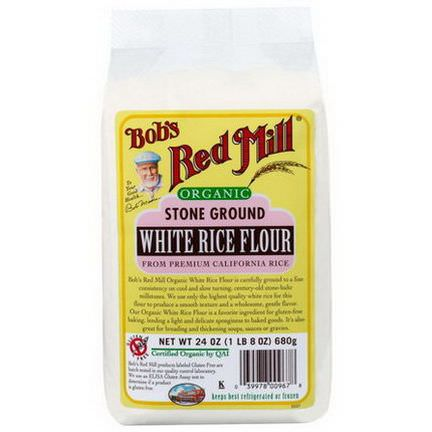 Bob's Red Mill, Organic Stone Ground White Rice Flour 680g