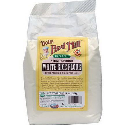 Bob's Red Mill, Organic White Rice Flour 1.36 kg