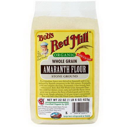 Bob's Red Mill, Organic, Whole Grain Amaranth Flour 623g