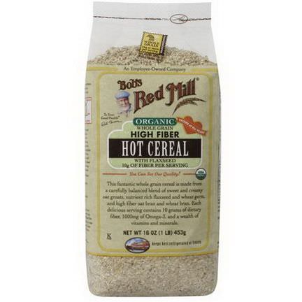 Bob's Red Mill, Organic Whole Grain High Fiber Hot Cereal with Flaxseed 453g