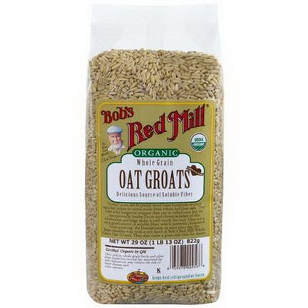 Bob's Red Mill, Organic Whole Grain Oat Groats 822g