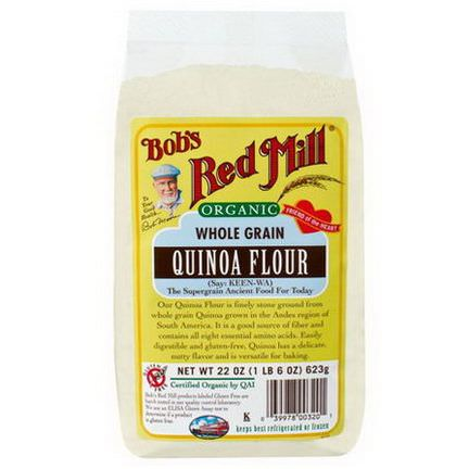 Bob's Red Mill, Organic Whole Grain Quinoa Flour 623g