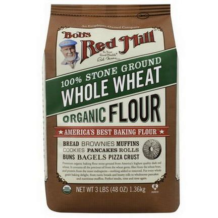 Bob's Red Mill, Organic Whole Wheat Flour 1.36 kg