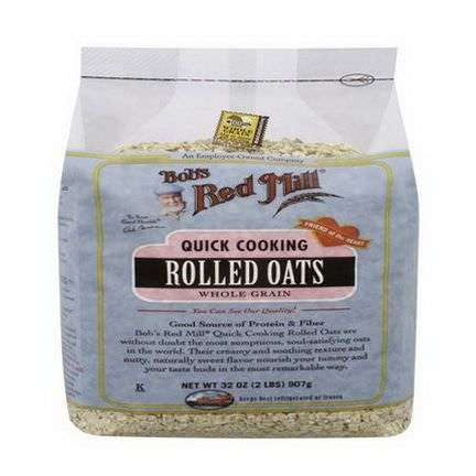 Bob's Red Mill, Quick Cooking Rolled Oats, Whole Grain 907g