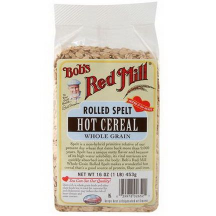 Bob's Red Mill, Rolled Spelt, Hot Cereal 453g
