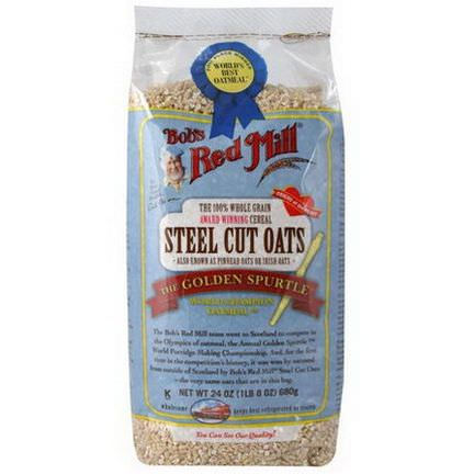 Bob's Red Mill, Steel Cut Oats, Natural Cereal 680g