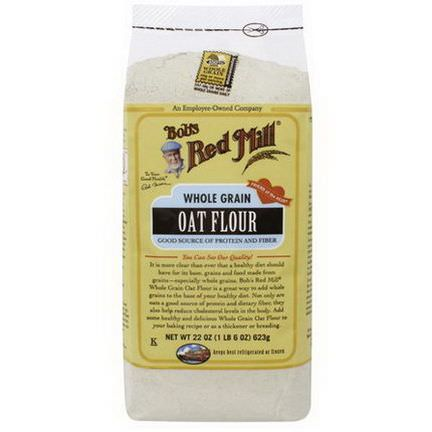 Bob's Red Mill, Whole Grain Oat Flour 623g