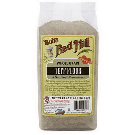 Bob's Red Mill, Whole Grain Teff Flour 680g