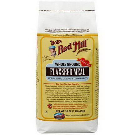 Bob's Red Mill, Whole Ground Flaxseed Meal 453g